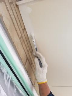 軒天塗装セラミック系特殊アクリル塗り
