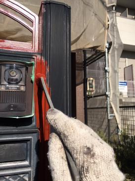 門柱塗装作業