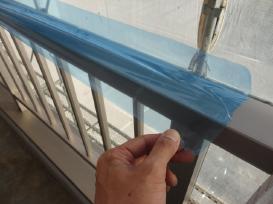 養生 外壁塗装 塗り替えマンション