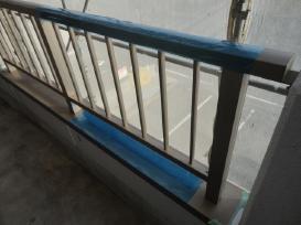 養生 岡崎マンション 外壁塗装