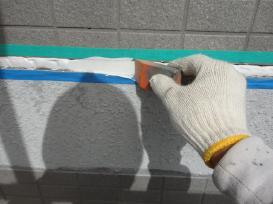 ヘラ均し コーキング 外壁補修
