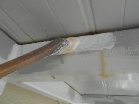 階段下塗装作業