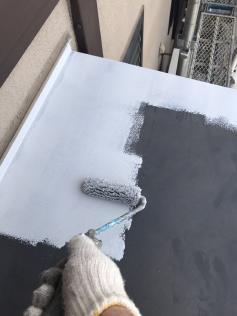 下地処理 錆止め塗布作業