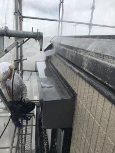 高圧洗浄 外壁洗浄 カビコケ