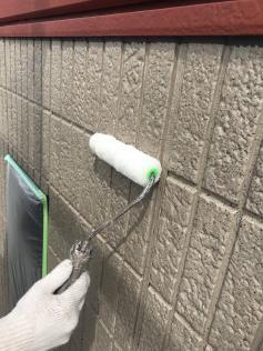 ベランダ壁 クリヤー塗装 アステック
