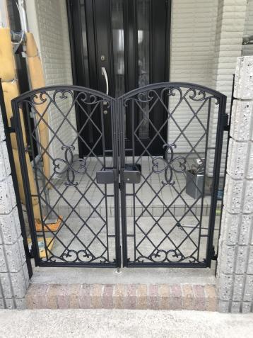門扉塗装 外壁塗り替え 岡崎市