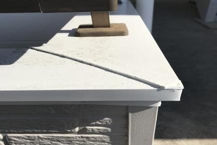 アパート岡崎 シリコン塗装 屋根が胃壁