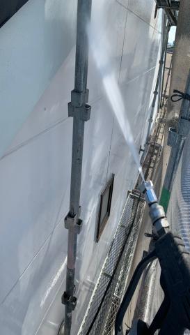 高圧洗浄作業 節水 防音