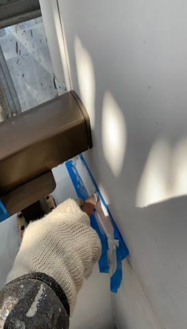 コーキング処理 アパート塗装