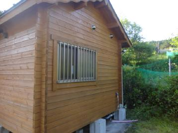 ログハウス 塗装工事 完成