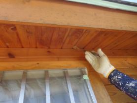 ログハウス 塗装工事