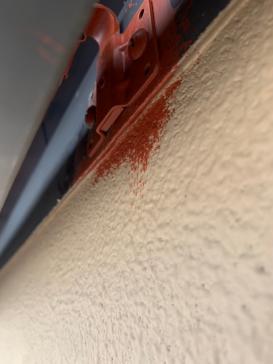 軒樋止め金具 高浜アパート 外壁塗装