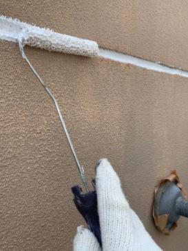 外壁目地 肌合わせ処理 アパート塗装