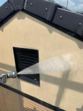 高圧洗浄 アパート外壁 塗替え