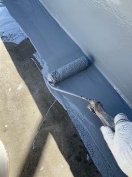 屋上 防水 塗装アパート