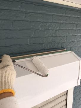 シャッターBOX 塗装工事
