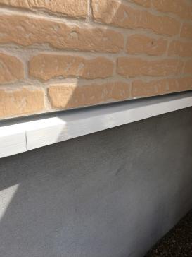 基礎水切り 塗装作業