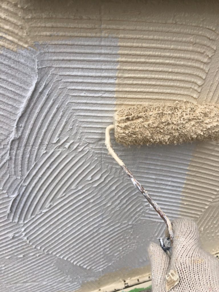 外壁塗装の様子