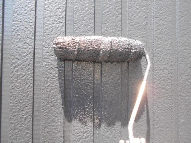 外壁塗装作業の様子
